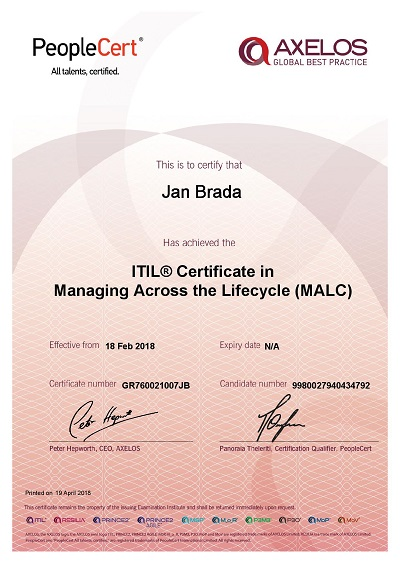 ITIL Certificate in Managing Across the Lifecycle (MALC)