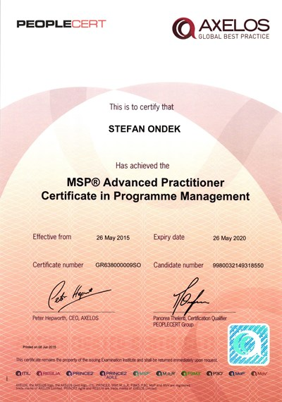 MSP Advanced Practitioner - PEOPLECERT