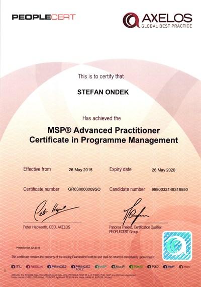 MSP Advanced Practitioner - PEOPLECERT