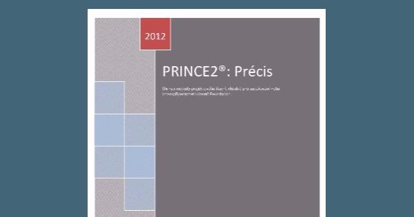 ZĽAVA publikácie PRINCE2 Précis